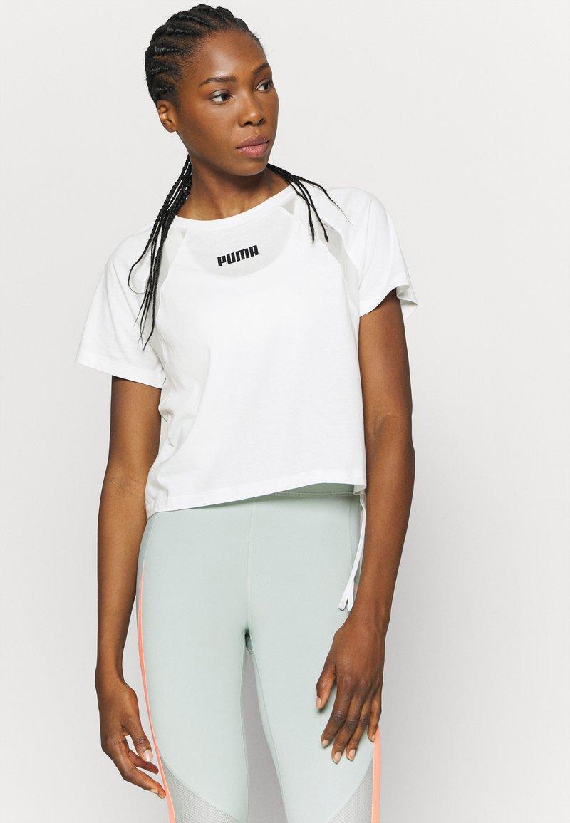 Puma - PAMELA REIF X PUMA COLLECTION  BOXY TEE - Print T-shirt - white