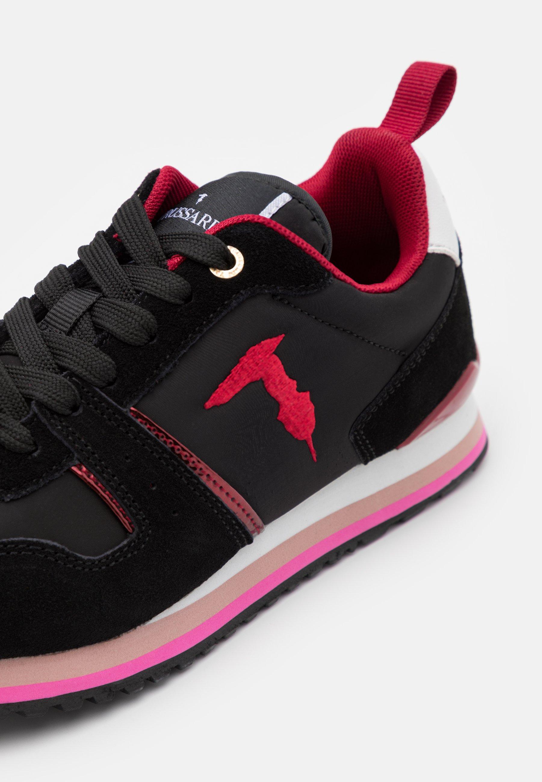 Trussardi Sneaker low black/bouganville/schwarz