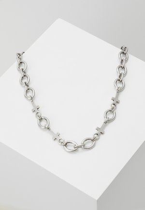 CROSS AND LINKCHAINNECKLACE - Necklace - silver-coloured