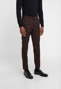 HUGO - HESTEN - Suit trousers - dark red - 0