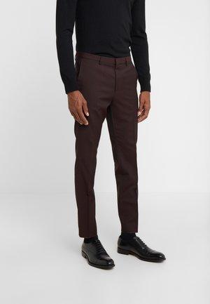 HESTEN - Suit trousers - dark red