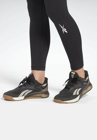 Reebok - MEET YOU THERE REECYCLED LEGGINGS - Collant - black - 4