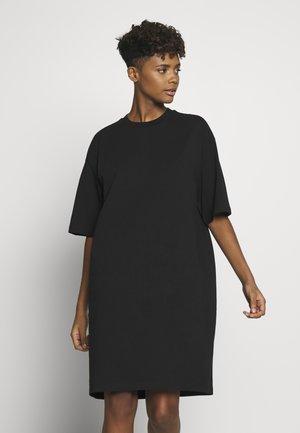 SANDRA DRESS - Žerzejové šaty - black solid