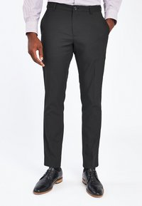 Next - Pantaloni eleganti - metallic black - 0