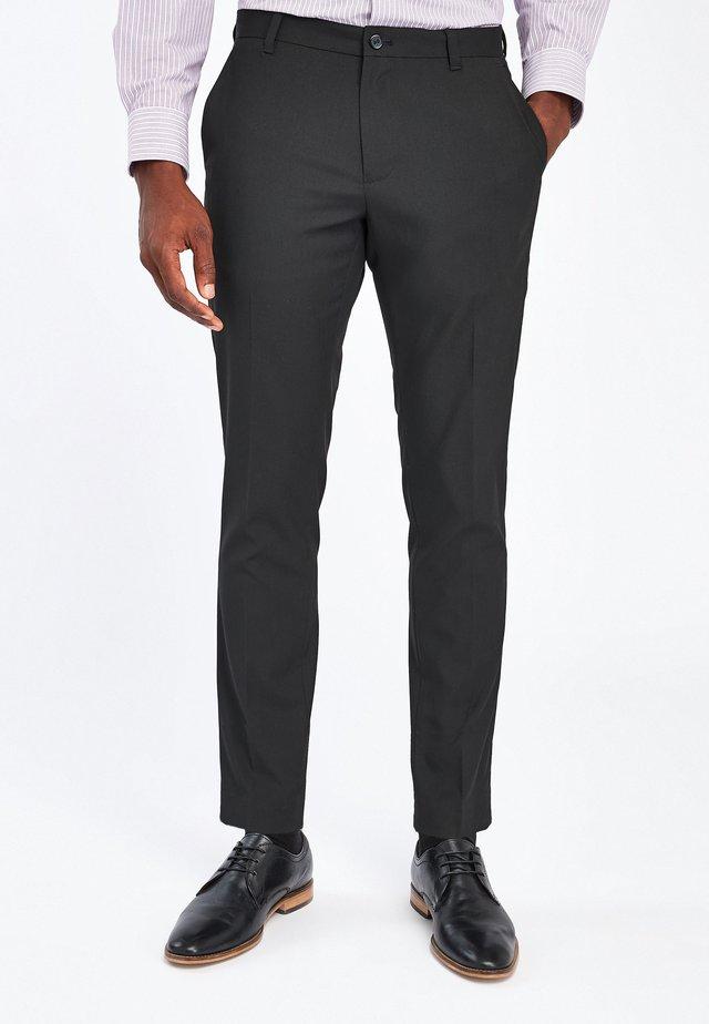 Oblekové kalhoty - metallic black