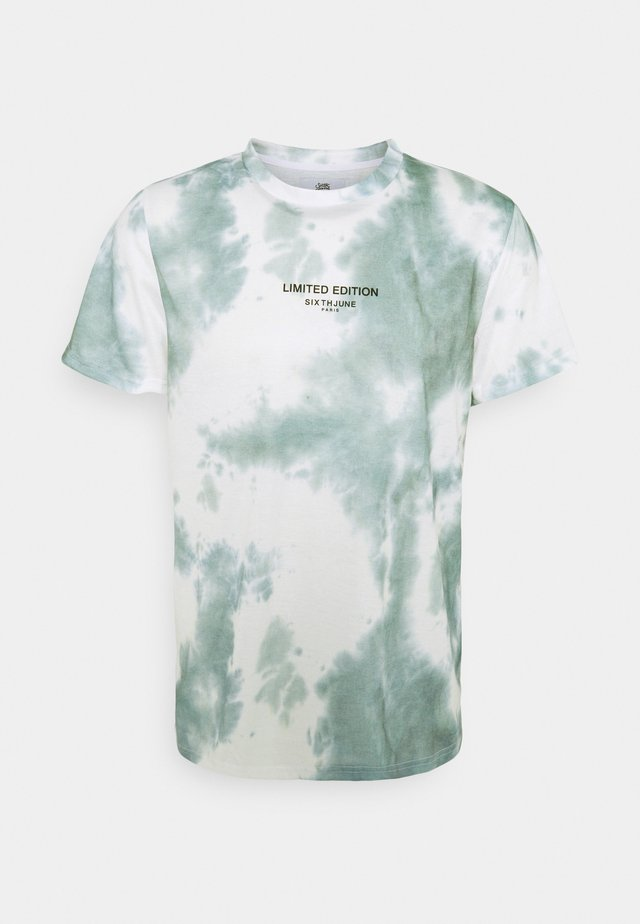 TIE DYE TEE - T-Shirt print - green