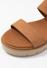 Timberland - SAFARI DAWN 2BAND - Platform sandals - rust - 2