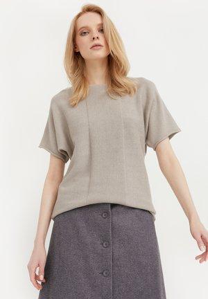 RUNDHALS - T-shirt imprimé - light brown