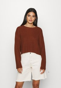 Even&Odd - Strikpullover /Striktrøjer - brown - 0