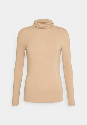 ROLL NECK - Long sleeved top - camel