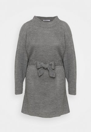 BELTED DRESS - Neulemekko - dark grey