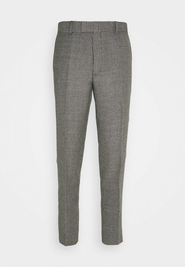 HOUNDSTOOTH - Spodnie garniturowe - noir