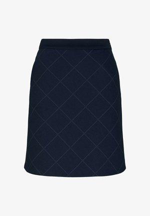 A-line skirt - navy gridcheck