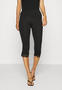 Anna Field - 2 PACK Capri Leggings with Lace - Leggings - Trousers - dark blue/black - 1