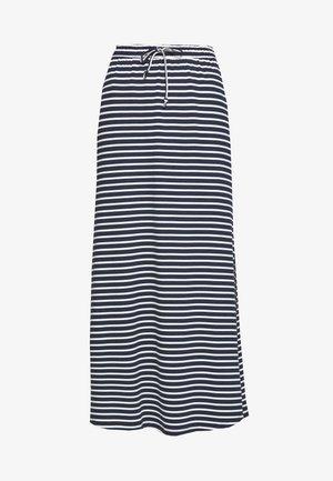 VIDELL MAXI SKIRT - Spódnica trapezowa - navy blazer/snow white