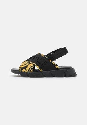 Sandals - black/gold