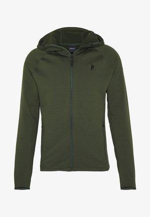 CHILL LIGHT HOOD - Fleece jacket - drift green