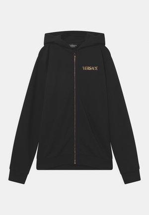 LOGO MEDUSA UNISEX - Zip-up sweatshirt - nero/oro