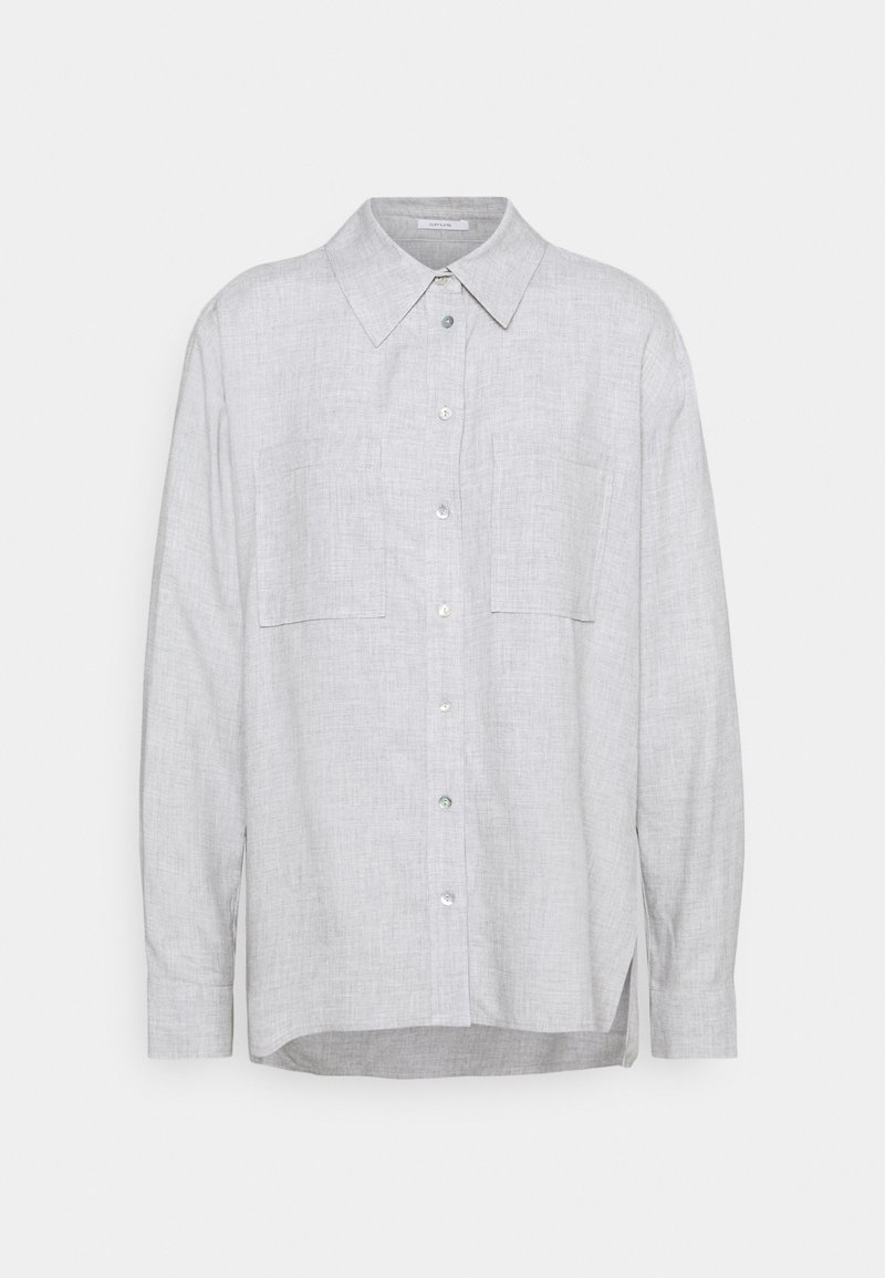 Opus - FRILLI - Button-down blouse - hazy fog melange