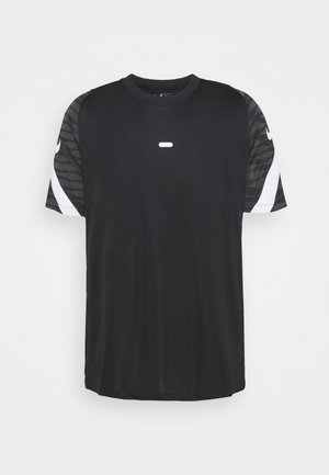 Print T-shirt - black/anthracite/white