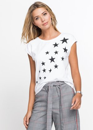 T-shirt imprimé - weiß