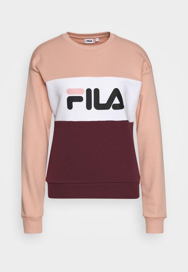 LEAH - Sweatshirt - tawny port/coral cloud/bright white