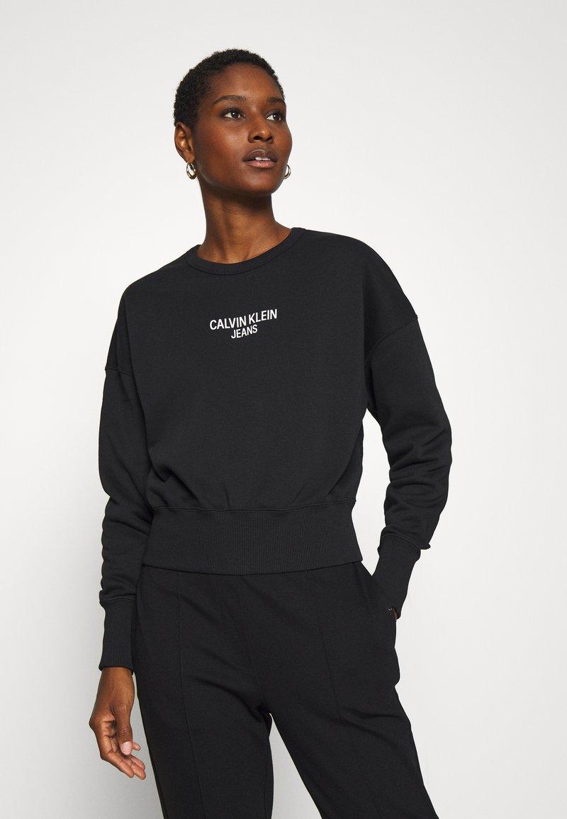 Calvin Klein Jeans - INSTITUTIONAL BACK LOGO - Sweatshirt - black