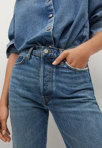Mango - Relaxed fit jeans - medium blue - 3