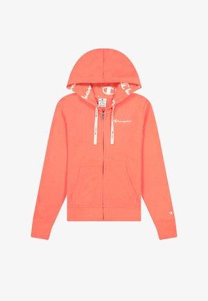 Zip-up hoodie - pastel pink