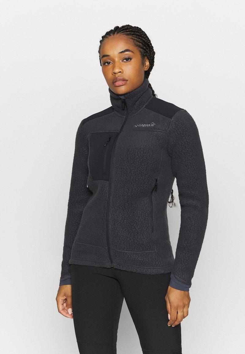 Norrøna - TROLLVEGGEN THERMAL PRO JACKET - Fleece jacket - dark grey