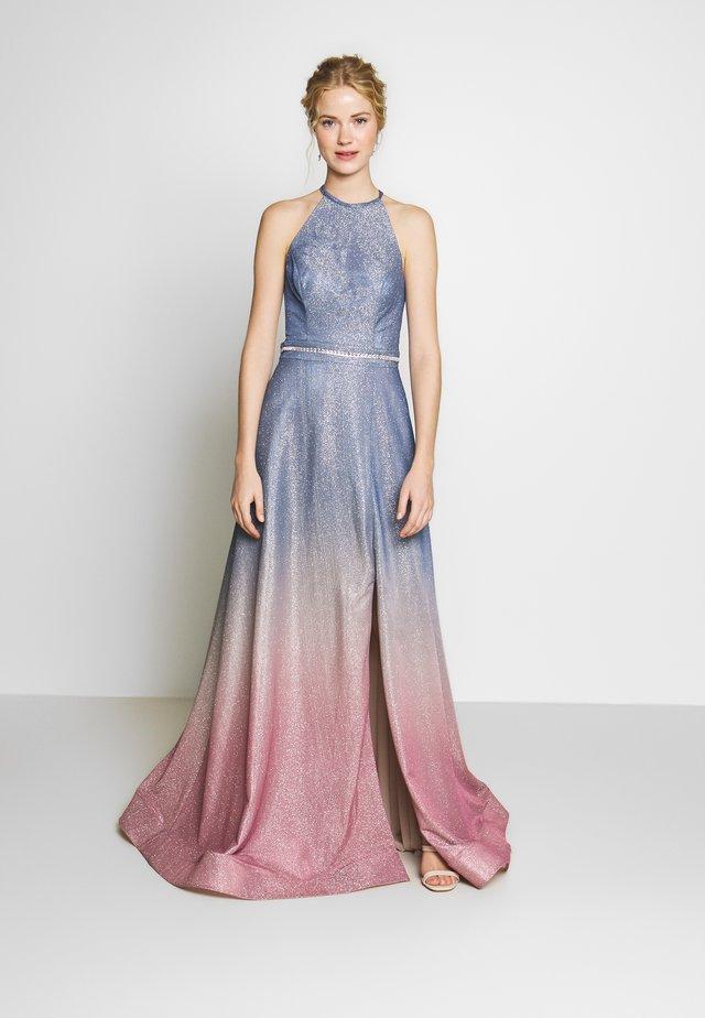Suknia balowa - blaugrau/rosé