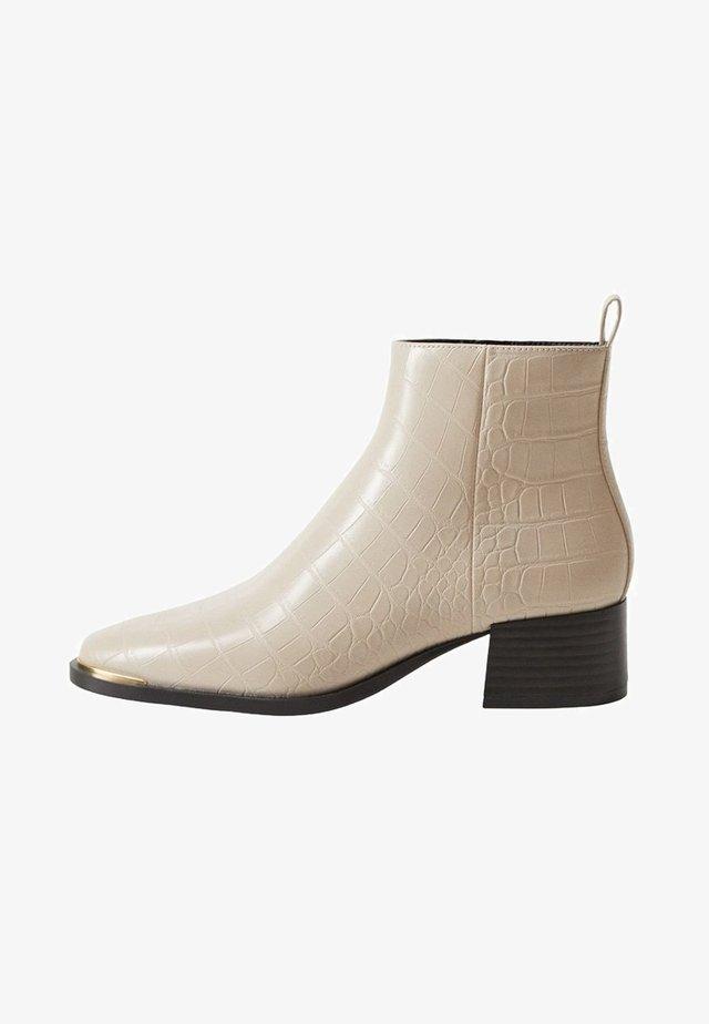 MINUTE - Ankle boots - šedobílá