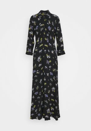 YASSAVANNA FLOWER LONG SHIRT DRESS - Day dress - black/savanna aop