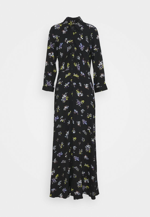 YASSAVANNA FLOWER LONG SHIRT DRESS - Robe d'été - black/savanna aop