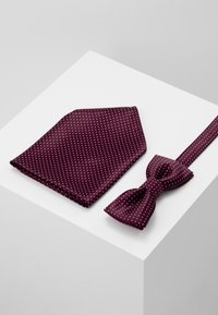 Only & Sons - ONSTBOX THEO TIE SET - Kapesník do obleku - cabernet/white - 0