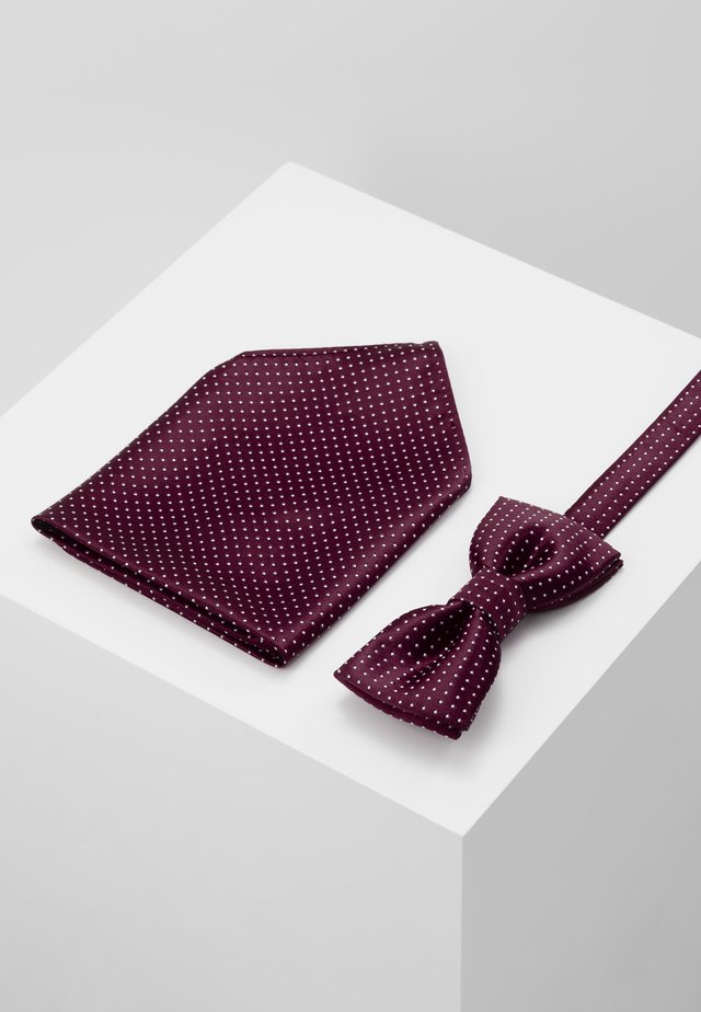 ONSTBOX THEO TIE SET - Mouchoir de poche - cabernet/white