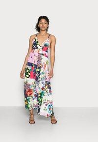 Desigual - TROPICAL - Korte jurk - material finishes - 0