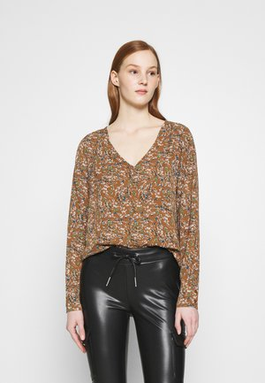 ONLLIMA V NECK  - Long sleeved top - rust
