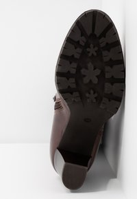 Anna Field Select - LEATHER PLATFORM BOOTS - Stivali con plateau - brown - 6
