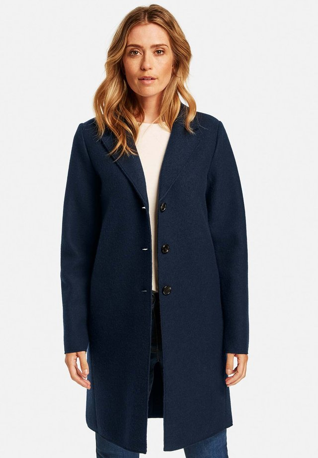 KURZ MIT WOLLANTEIL - Manteau court - dark navy