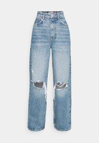 IDUN WIDE - Flared Jeans - blue destroy