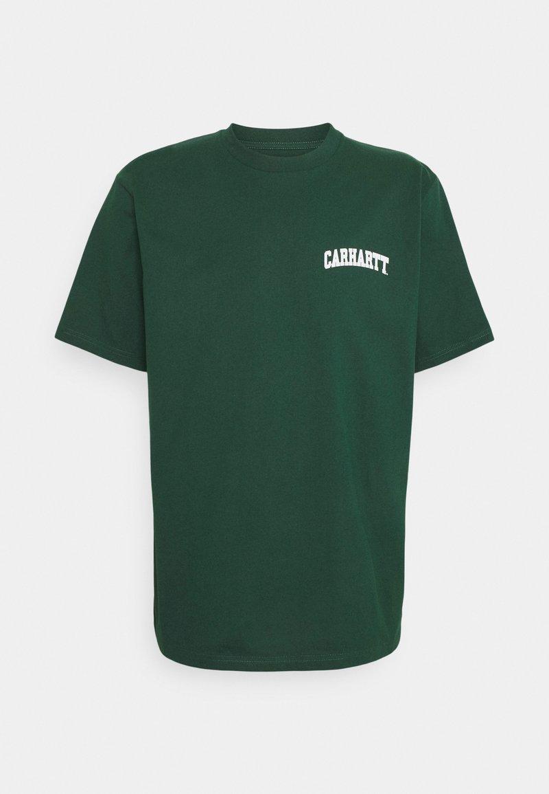 Carhartt WIP - UNIVERSITY SCRIPT - Print T-shirt - treehouse/white