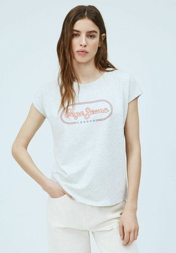 CAROL - Print T-shirt - gris marl