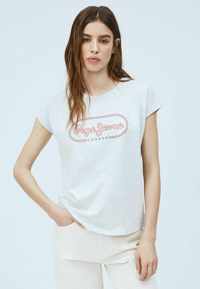 Pepe Jeans - CAROL - Print T-shirt - gris marl