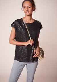 Next - SEQUIN - T-shirt imprimé - black - 0