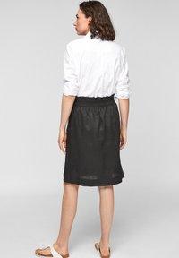 s.Oliver - A-line skirt - black melange - 2