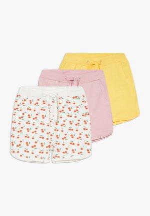 NBFDENKA 3 PACK - Teplákové kalhoty - pink nectar