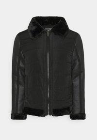 CAESAR - Faux leather jacket - black