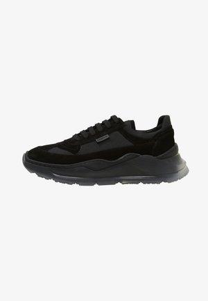 Sneakers - black, dark blue, red
