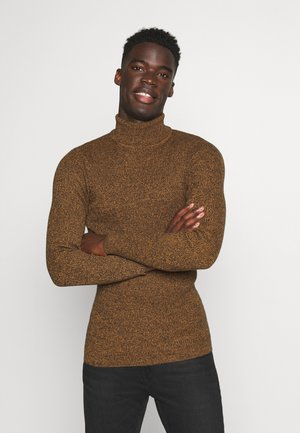 MUSCLE FIT TURTLE - Strikpullover /Striktrøjer - mottled brown